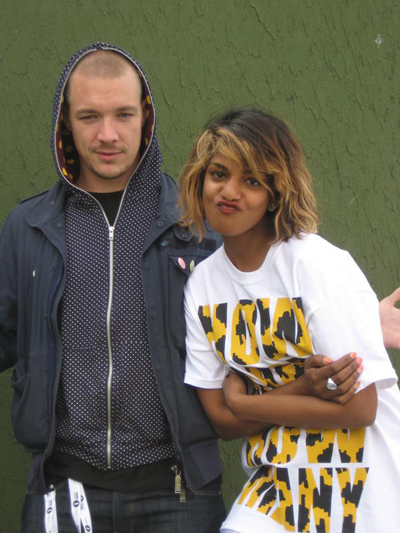 M.I.A. and Diplo, in happier times.